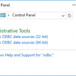 Windows: PostgreSQL の ODBC を設定する